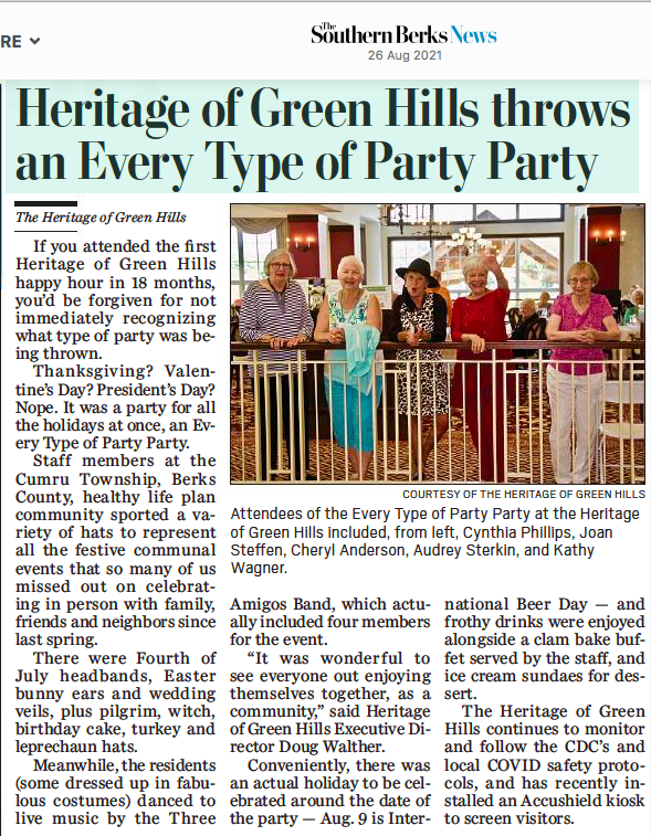 Heritage of Green Hills Throws an Every Type of Party Party